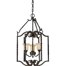 <strong>Forte Lighting</strong> 3 Light Foyer Pendant