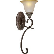<strong>Forte Lighting</strong> 1 Light Bracket Wall Sconce