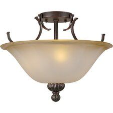 <strong>Forte Lighting</strong> 3 Light Semi-Flush Mount