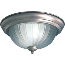 <strong>Forte Lighting</strong> 2 Light Opal Flush Mount