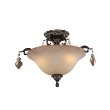 Vienna 3 Light Semi Flush Mount