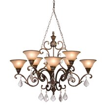<strong>Artcraft Lighting</strong> Florence 8 Light Oval Chandelier