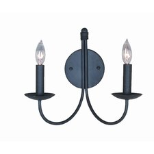 Pot Racks 2 Light Wall Sconce