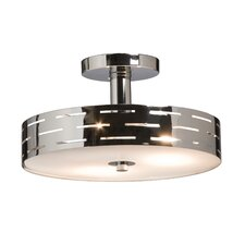 Seattle 3 Light Semi Flush Mount