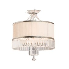 Newcastle 3 Light Semi Flush Mount
