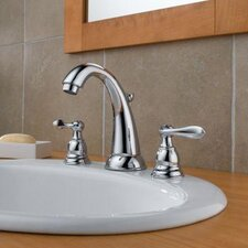 <strong>Delta</strong> Windemere Widespread Bathroom Faucet with Double Lever Handles