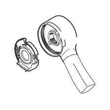 DrydenSingle Metal Level Handle Kit-Volume Control Tub/Shower