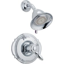 Victorian Pressure Balanced Diverter Shower Head with Volume Control Shower Faucet Trim