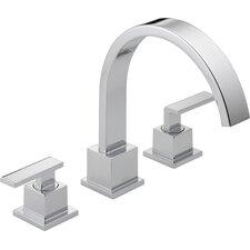 Vero Double Handle Deck Mount Roman Tub Faucet Trim