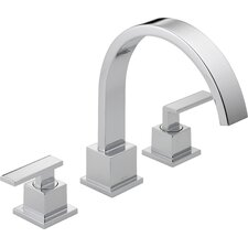Vero Double Handle Deck Mount Roman Tub Faucet