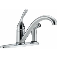 Classic Single Handle Centerset Kitchen Faucet with Integrated Supply Tools and Diamond Seal Technology