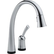 Pilar Single Handle Pull-Down Widespread Kitchen Faucet with Touch2O Technology