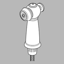 <strong>Delta</strong> Victorian Spray, Hose and Diverter Assembly