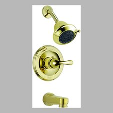 Classic Pressure Balanced Lever Handle Diverter Tub and Shower Faucet Trim