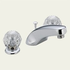 Classic Widespread Bathroom Faucet with Double Knob Handles