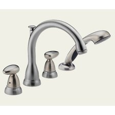 Michael Graves Roman Tub Faucet in Stainless Steel, Less Handles