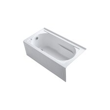 "<strong>Kohler</strong> Devonshire 60"" X 32"" Alcove Bath with Integral Apron, Tile Flange and Left-Hand Drain"