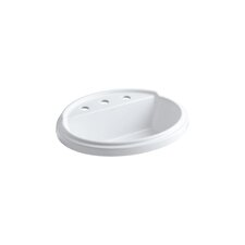 "Tresham Oval Self-Rimming Lavatory with 8"" Centers"