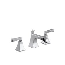 Memoirs Widespread Lavatory Faucet with Stately Design and Deco Lever Handles