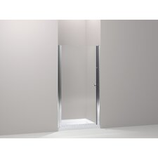 "Fluence Pivot Shower Door, 65-1/2"" H X 27-1/4 - 28-3/4"" W, with 1/4"" Thick Crystal Clear Glass"