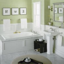 "<strong>Kohler</strong> Devonshire 60"" X 32"" Alcove Whirlpool Bath with Integral Apron and Right-Hand Drain"