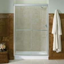 "Fluence 43"" W x 70"" H Sliding Shower Door with 0.25"" Crystal Clear Glass"