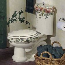 Peonies & Ivy Design On Revival Two-Piece Elongated 1.6 Gpf Toilet with Ingenium Flush Technology and Top Actuator