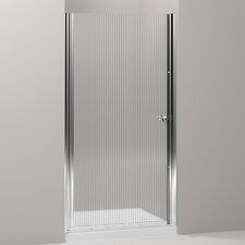 "Fluence Pivot Shower Door, 65-1/2"" H X 33-3/4 - 35-1/4"" W, with 1/4"" Thick Falling Lines Glass"