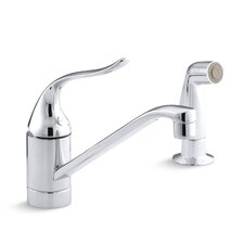 "<strong>Kohler</strong> Coralais Single-Control Kitchen Faucet with 8-1/2"" Spout, Color-Matched Sprayhead and Lever Handle, Less Escutcheon"