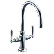 Hirise Stainless Two Handle Bar Sink Faucet
