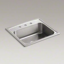 "<strong>Kohler</strong> Toccata 25"" X 22"" X 7-11/16"" Top-Mount Single-Bowl Kitchen Sink with 3 Faucet Holes"