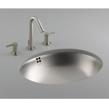 Bachata Stainless Steel Bathroom Sink with Overflow