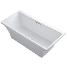 "Rêve 67"" X 32"" Freestanding Bath with Brilliant Blanc Base Without Jet Trim"