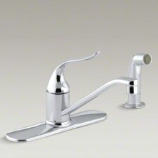 "Coralais Single-Control Kitchen Faucet with Escutcheon, Sidespray and 8-1/2"" Swing Spout"