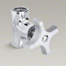 """Straight Stop with Four-Arm Handle and 3/8"""" Npt"""
