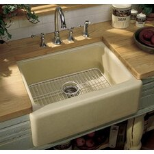 "Alcott 25"" X 22"" X 8-5/8"" Under-Mount Single-Bowl Kitchen Sink with Apron-Front and 5 Oversize Faucet Holes"