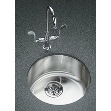 "Undertone/Lyric 18-3/8"" Diameter X 7-5/8"" Top-Mount/Under-Mount Single Circular Bowl Kitchen Sink"