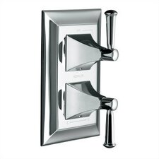 Memoirs Stacked Valve Trim with Stately Design and Lever Handles, Valve Not Included