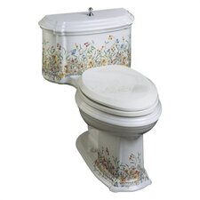 Portrait English Trellis Comfort Height One-Piece Elongated 1.6 Gpf Toilet with Class Five Flush Technology and Left-Hand Trip Lever