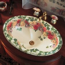 <strong>Kohler</strong> Peonies & Ivy Design On Cantata Self-Rimming Lavatory
