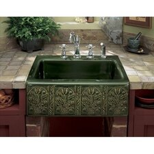 "Savanyo Design On Alcott 25"" x 22"" Tile-In Kitchen Sink with 4 Faucet Holes"