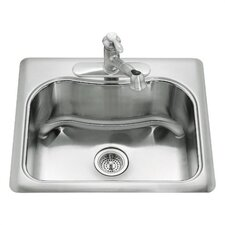 "<strong>Kohler</strong> Staccato 25"" X 22"" X 8-5/16"" Top-Mount Single-Bowl Kitchen Sink with Single Faucet Hole"