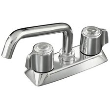 Coralais Laundry Sink Faucet with Plain End Spout and Blade Handles