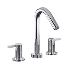 Stillness Deck-Mount High-Flow Bath Faucet Trim with Lever Handles, Valve Not Included