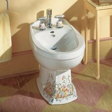 "Portrait 16.81"" Floor Mount Bidet with English Trellis Design"