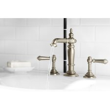 Artifacts Bathroom Faucet with Column Design Spout and Lever Handles