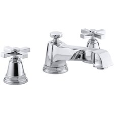 Pinstripe Pure Deck-Mount High-Flow Bath Faucet Trim with Cross Handles, Valve Not Included