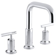 Purist Deck-Mount High-Flow Bath Faucet Trim with Lever Handles, Valve Not Included