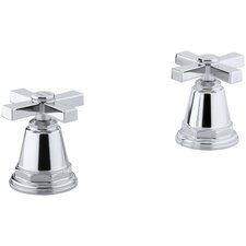 Pinstripe Pure Bath- Or Deck-Mount High-Flow Bath Valve Trim with Cross Handles, Handles Only, Valve Not Included