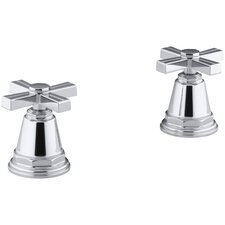 Pinstripe Bath- Or Deck-Mount High-Flow Bath Valve Trim with Cross Handles, Handles Only, Valve Not Included